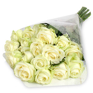 19 White Roses Bouquet