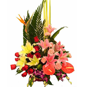 Order flowers basket online China