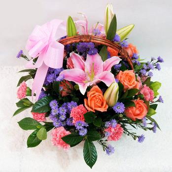 Hand Florals Basket