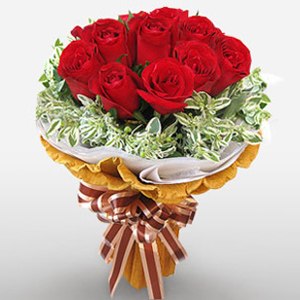 Send Flowers to China - Classic 12 Roses Bouquet
